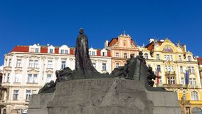 Prague, Czech Republic Jan Has Memorial Old Town Square Royalty Free Stock Images