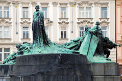 The Jan Hus Memorial Royalty Free Stock Images
