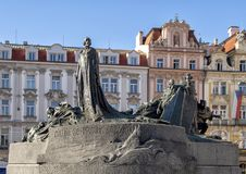 The Jan Hus Memorial, Old Town Square, Prague, Czech Republic royalty free stock images
