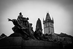 Jan hus memorial in prague Stock Images