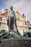 Jan Hus memorial, Prague Stock Images