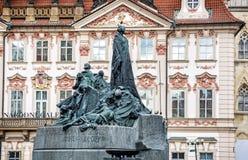 Jan Hus Memorial, quadrato di Città Vecchia, Praga, repubblica Ceca Immagini Stock