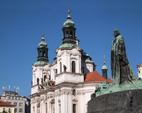Prague: St Nicolas church Royalty Free Stock Images