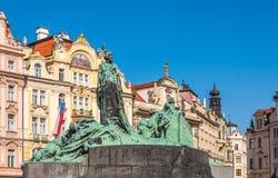 Jan Hus-monument royalty-vrije stock afbeeldingen