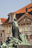 Jan Hus monument on Old Town square in Prague. Czech Republic Stock Photo