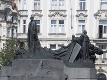 Jan Hus Monument, Prague. Jan Hus Monument in the Old Town Square, Prague, Czech Republic Royalty Free Stock Images