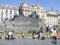 Jan Hus Monument, Prague Royalty Free Stock Photo