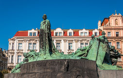 Jan Hus monument Stock Photos