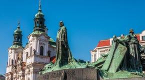 Jan Hus monument Stock Photos
