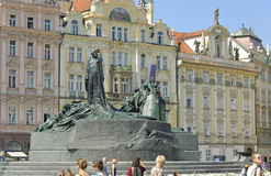 Jan Hus Monument Stock Photo