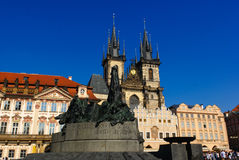 Jan Hus Monument, Prague Stock Images