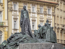 Jan Hus monument in Prague Stock Image
