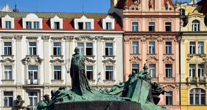 Jan Hus monument, Prague sights Stock Photos