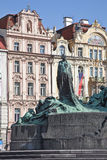 Jan Hus. The monument was erected in 1915 Royalty Free Stock Image