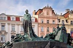 Jan Hus pomnik, Praga Zdjęcie Royalty Free