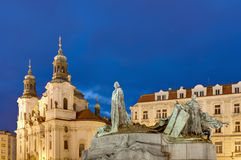 Jan Hus statue. Located at Old Town Square royalty free stock images