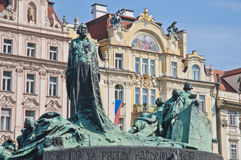 Jan Hus statue Royalty Free Stock Photography