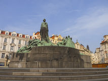 Jan Hus statue. In Old town Square , Prague,Czech Republic Stock Photography