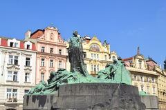 Jan Hus statue in Staremesto Namesti in Prague Royalty Free Stock Photos