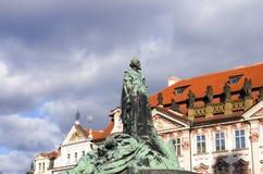 Jan Hus zabytek Zdjęcia Royalty Free