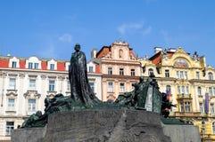 Jan Hus zabytek w Praga - republika czech Zdjęcia Stock