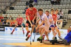 Floorball - czeski extraleague baraż Zdjęcia Royalty Free