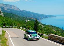 Jan Kopecky on the IRC PRIME Yalta Rally 2011 Royalty Free Stock Image