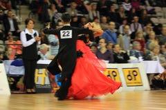 Jan Kotek & Jana Dostalova - standard dancing Royalty Free Stock Photography