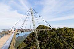 Jan 2017 - Langkawi, Malaysia - Sky bridge royalty free stock photos