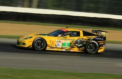 Jan Magnussen races the Corvette Stock Photos