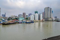 Jan 21,2018 Manila Landscape view from Fort Santiago , Intramuros, Manila royalty free stock images