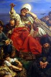 Jan Matejko`s painting  Wernyhora. 1883-1884 at National Museum in Krakow, Poland. Wernyhora was legendary 18th century Cossack who predicted the fall of Stock Photo