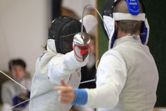 Jan Ondracek - foil fencing Royalty Free Stock Photos
