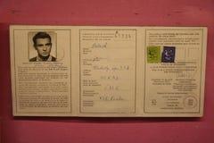 Jan Palach_exhibition_documents obraz stock