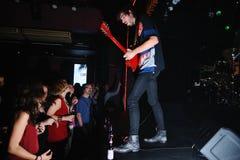 Jan Paternoster, singer of the Belgian garage rock band Black Box Revelation Stock Images