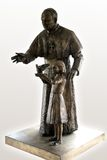 Jan Paweł ii dziewczyny posąg zdjęcia stock