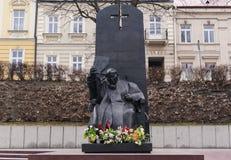 Jan Paweł ii pope posąg Zdjęcia Royalty Free