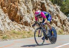 Jan Polanc, Individual Time Trial - Tour de France 2016. Col du Serre de Tourre,France - July 15,2016: The Slovenian cyclist Jan Polanc of Lampre-Merida Team Stock Images