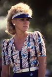 Jan Stephenson. Women's professional golf legend Jan Stephenson.  (Image from a color slide Royalty Free Stock Photos