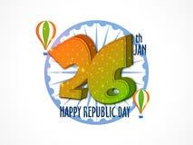26 Jan Text Design para el día de la república Fotografía de archivo libre de regalías