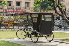 Jan 21,2018 Tricycle in Fort Santiago , Intramuros, Manila. Philippines Royalty Free Stock Image