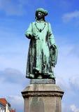 Jan Van Eyck. Statue in Brugge, Belgium Royalty Free Stock Images