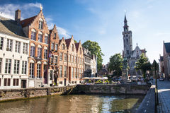 Jan van Eyck square, Bruges Royalty Free Stock Photos