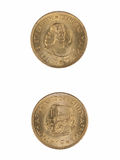Jan Van Riebeek. 1964 South African Jan van Riebeek 1 Cent Coin Royalty Free Stock Photos