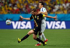 Jan Vertonghen Coupe du monde 2014 Foto de Stock