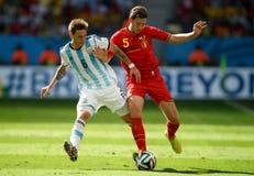 Jan Vertonghen and Lucas Biglia  Coupe du monde 2014 Royalty Free Stock Photos