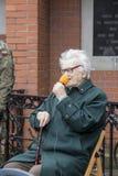 Jan Zalewski, ancien prisonnier du NKVD dans le ³ W, Nationa de Rembertà Photo stock