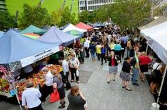 Jan Zasila rolników rynki w Brisbane mieście Zdjęcia Royalty Free