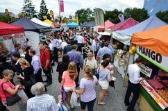Jan Zasila rolników rynki w Brisbane mieście Fotografia Royalty Free