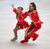 Jana Khokhlova e Sergei Novitski (RUS) Fotografie Stock